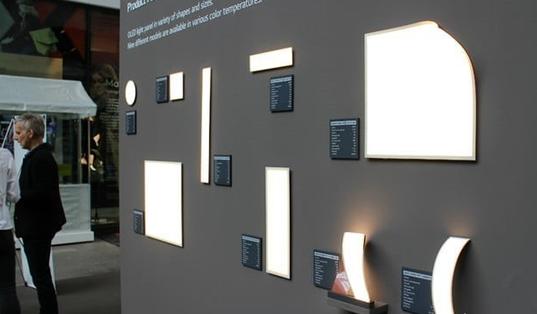LG展示新型OLED台灯 寿命可达3万小时