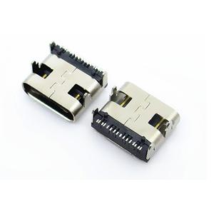 USB-3.1插座 16P type-c母座 双向 高清传输接口 4脚直插