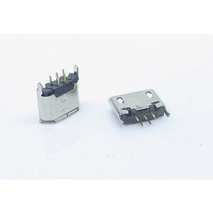 MICRO 5p USB插座 插件立式