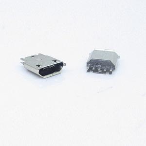 Micro usb 5p 焊线夹板式母座 V8插座