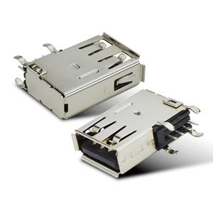 USB2.0侧插长体卷边