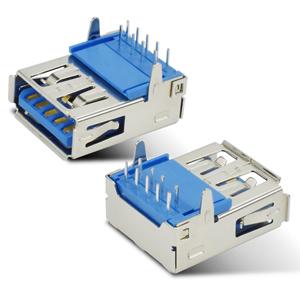 USB3.0 AF90度插脚大电流