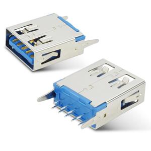 USB3.0 AF180度插脚短体